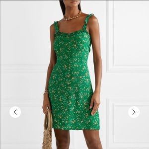 Faithfull to the Brand Green Floral ruffle dress